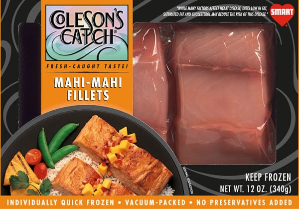 Packaged Mahi-Mahi Fillets - Flash Frozen