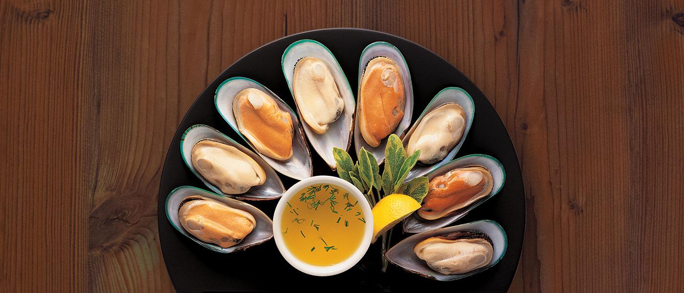 Greenshell Mussels – Half Shell