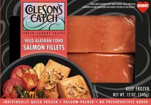 Coho Salmon Fillets - Flash Frozen