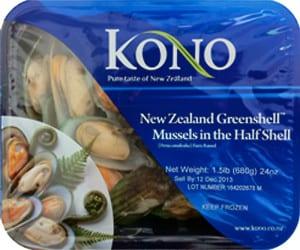 Kono Mussels Half Shell