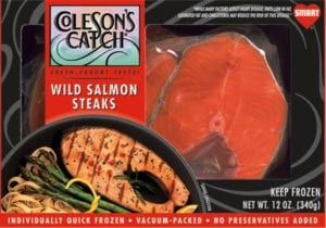 Wild Salmon Steaks - Bagged